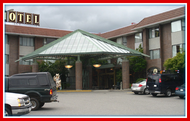 Hotel Entrance Roofing